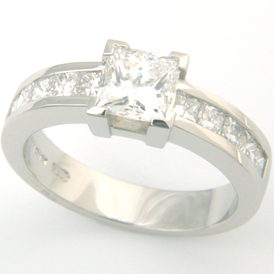 Platinum Channel Set Princess Cut Diamond Engagement Ring 1.jpg