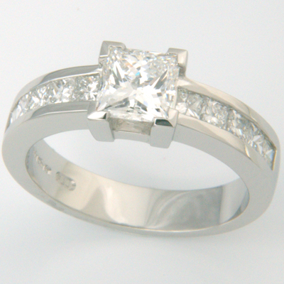 Platinum Channel Set Princess Cut Diamond Engagement Ring 2.jpg