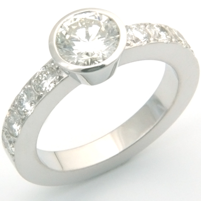 18ct White Gold Ring Using Customer's Diamonds 1.jpg
