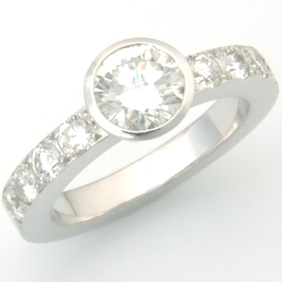 18ct White Gold Ring Using Customer's Diamonds 2.jpg
