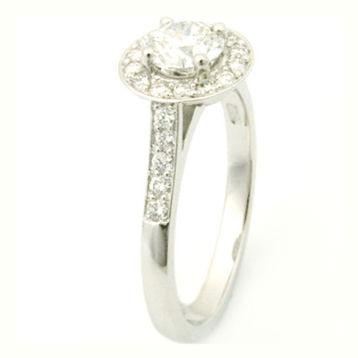 Platinum Round Brilliant Cut Diamond Halo Engagement Ring 3.jpg
