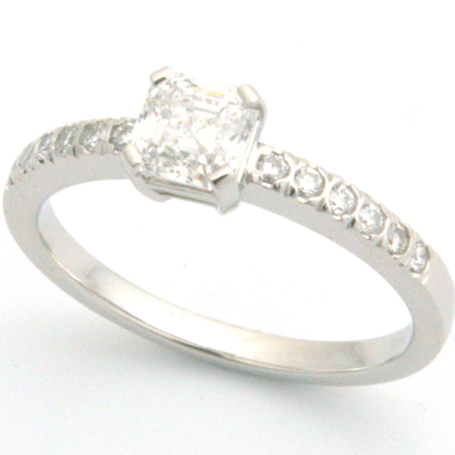 18ct White Gold Ring Using Customer's Diamonds.jpg