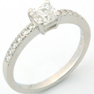 Platinum Asscher Cut Diamond Engagement Ring 3.jpg