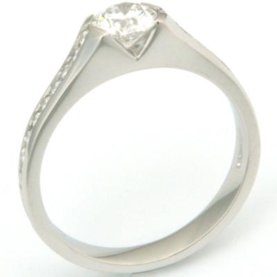 Platinum Diamond Engagement Ring with Diamond Channel Set Shoulders 2.jpg
