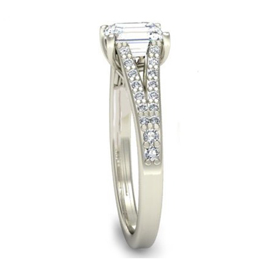 Platinum Radiant Cut Diamond Engagement Ring 3.jpg