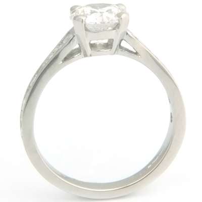 Platinum Tiffany Style Diamond Engagement Ring with Diamond Set Shoulders 2.jpg