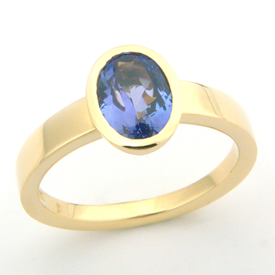 Yellow Gold Solitaire Tanzanite Engagement Ring 1.jpg