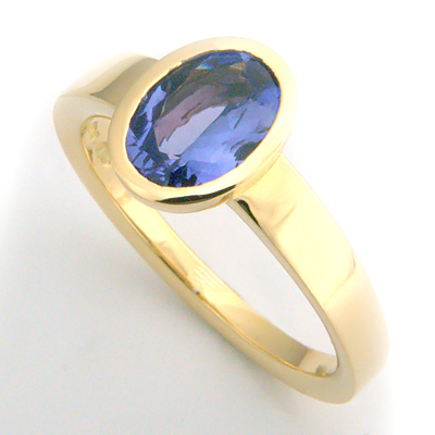 Yellow Gold Solitaire Tanzanite Engagement Ring 2.jpg