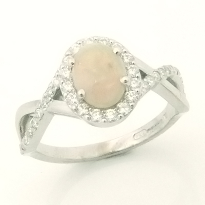 9ct White Gold Opal and Diamond Engagement Ring 1.jpg
