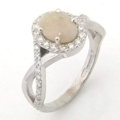 9ct White Gold Opal and Diamond Engagement Ring 2.jpg