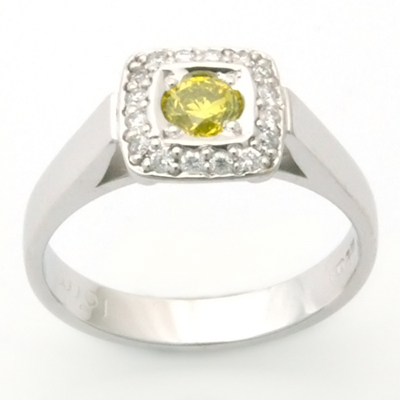 Palladium Yellow and White Diamond Engagement Ring 1.jpg