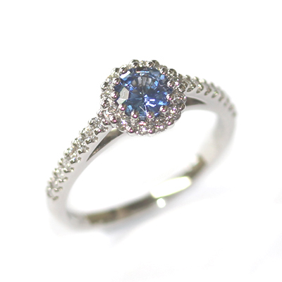 Platinum Sapphire and Diamond Halo Style Engagement Ring 1.jpg