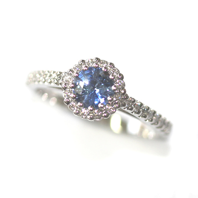 Platinum Sapphire and Diamond Halo Style Engagement Ring 2.jpg