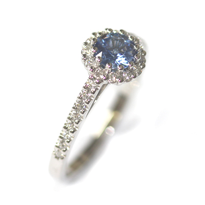 Platinum Sapphire and Diamond Halo Style Engagement Ring 3.jpg