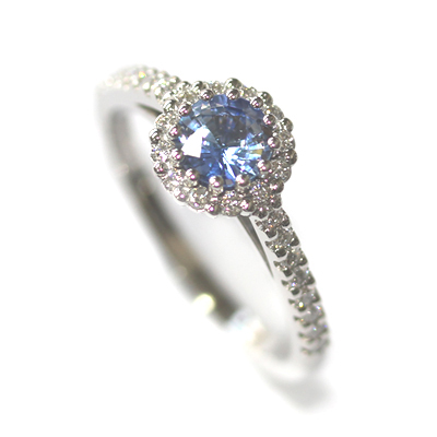 Platinum Sapphire and Diamond Halo Style Engagement Ring 4.jpg