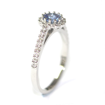Platinum Sapphire and Diamond Halo Style Engagement Ring 6.jpg