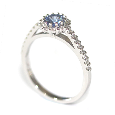 Platinum Sapphire and Diamond Halo Style Engagement Ring 7.jpg