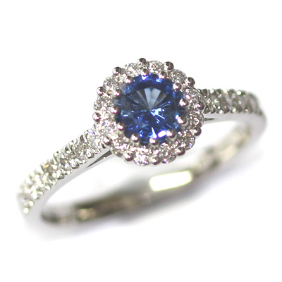 Platinum Sapphire & Diamond Halo Engagement Ring 2.jpg