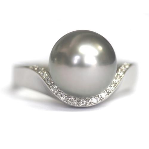 Platinum Black Pearl and Diamond Engagement Ring.jpg