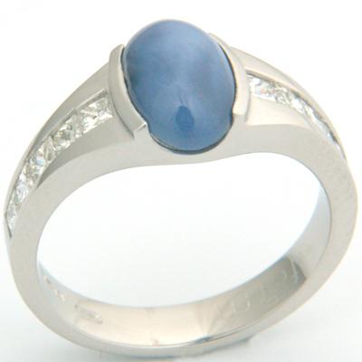 Platinum Star Sapphire and Diamond Engagement Ring 2.jpg