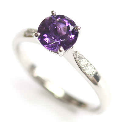 Platinum Amethyst and Diamond Engagement Ring 1.jpg