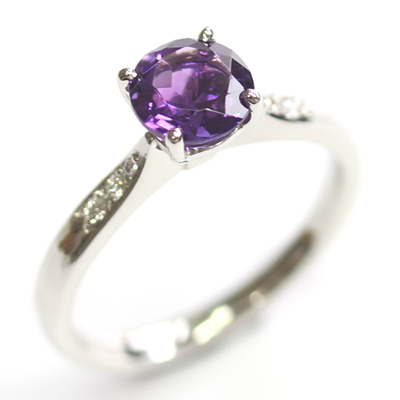 Platinum Amethyst and Diamond Engagement Ring 2.jpg