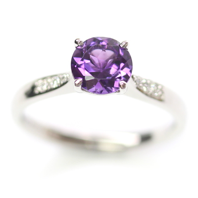 Platinum Amethyst and Diamond Engagement Ring 3.jpg