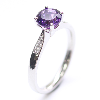 Platinum Amethyst and Diamond Engagement Ring 5.jpg