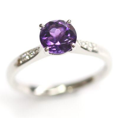 Platinum Amethyst and Diamond Engagement Ring 7.jpg