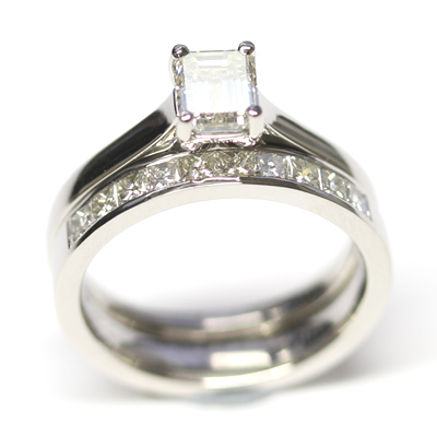 Platinum Solitaire Engagement Ring and Diamond Wedding Ring Set 4.jpg
