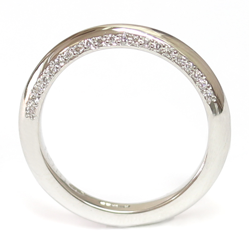 Platinum Wedding Ring with Shaped Profile and Diamond Set Edge.jpg