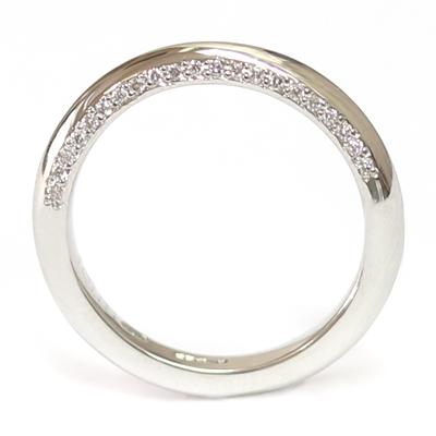 Platinum Wedding Ring with Shaped Profile and Diamond Set Edge 1.jpg