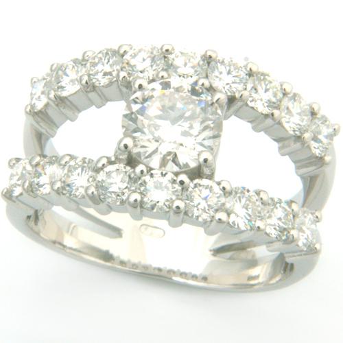 18ct White Gold Diamond Ring using Customers Own Diamonds.jpg