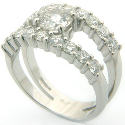 18ct White Gold Diamond Ring using Customers Own Diamonds 2.jpg