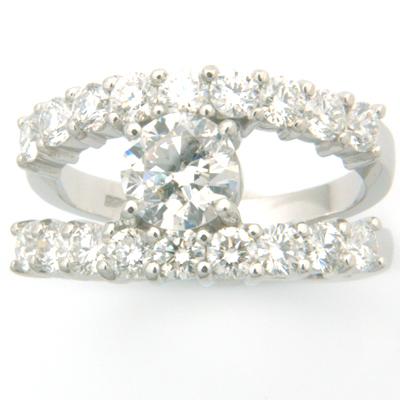 18ct White Gold Diamond Ring using Customers Own Diamonds 3.jpg
