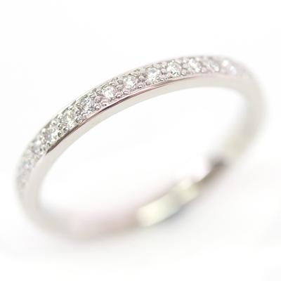 Platinum Diamond Set and Brushed Finish Wedding Ring Set 3.jpg