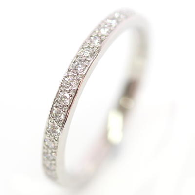 Platinum Diamond Set and Brushed Finish Wedding Ring Set 4.jpg