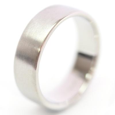 Platinum Diamond Set and Brushed Finish Wedding Ring Set 6.jpg