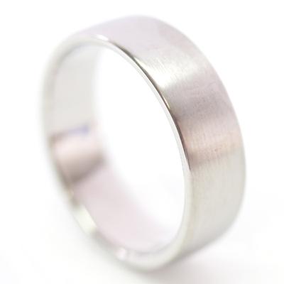 Platinum Diamond Set and Brushed Finish Wedding Ring Set 5.jpg