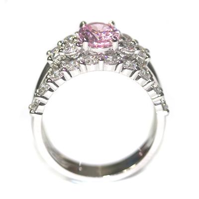 Platinum Morganite and Diamond Engagement Ring and Wedding Ring Set 3.jpg
