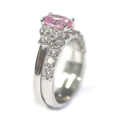 Platinum Morganite and Diamond Engagement Ring and Wedding Ring Set 4.jpg