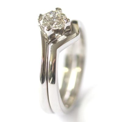 V Shaped Plain Fitted Wedding Ring 2.jpg