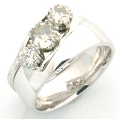 18ct White Gold Wedding Ring to Fit Trilogy Diamond Engagement Ring 1.jpg
