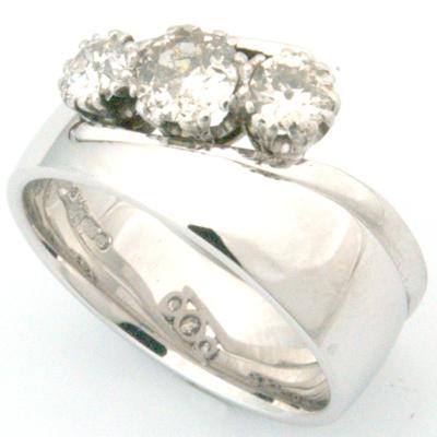 18ct White Gold Wedding Ring to Fit Trilogy Diamond Engagement Ring 2.jpg