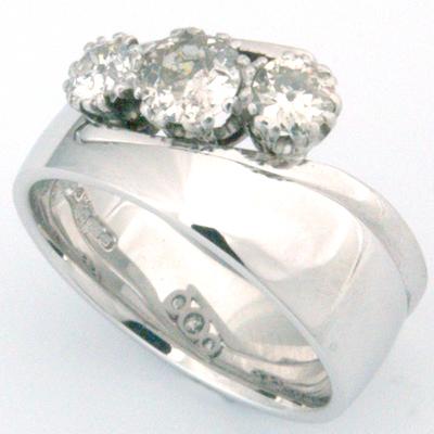 18ct White Gold Wedding Ring to Fit Trilogy Diamond Engagement Ring 3.jpg