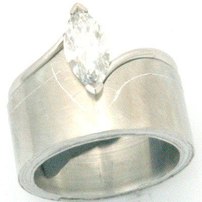Platinum Fitted Wedding Ring to Marquise Cut Diamond Engagement Ring 4.jpg