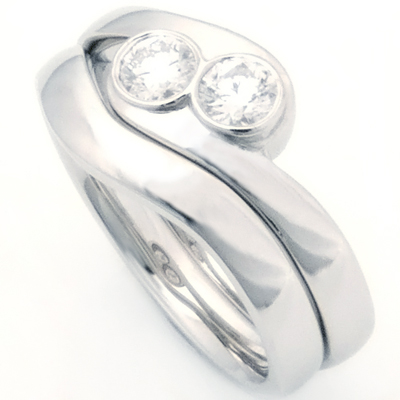 Platinum Fitted Wedding Ring for Two Diamond Engagement Ring 2.jpg