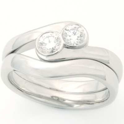 Platinum Fitted Wedding Ring for Two Diamond Engagement Ring 1.jpg