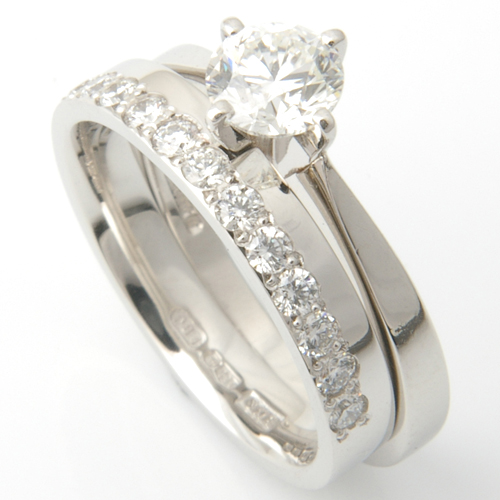 Platinum Half Diamond Set Fitted Wedding Ring.jpg