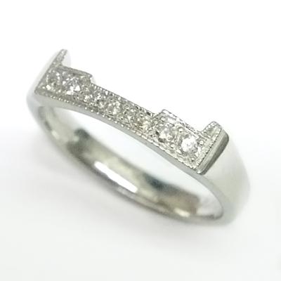 Platinum Diamond Set Fitted Wedding Ring to Trilogy Engagement Ring 3.jpg